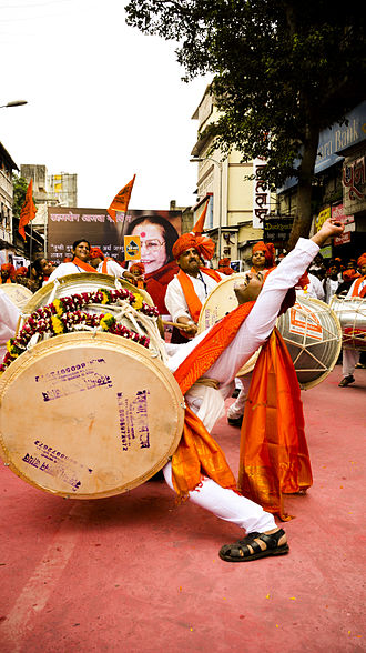 Dhol - A dhol player in Pune, India