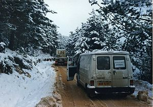 Main supply route - The infamous Route Diamond MSR, routing UNHCR aid into central Bosnia in the winter of 1993.