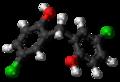 Dichlorophen molecule ball.png