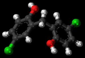 Dichlorophen - Image: Dichlorophen molecule ball