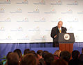 Dick Cheney at the 2006 Election Forum of the Cincinnati, Ohio Regional Chamber of Commerce.jpg