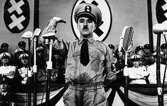 Fictional country - Charlie Chaplin mocks Adolf Hitler in a setting that ridicules Nazi Germany and its leadership, and uses double-crosses as mockery of the Nazi swastika.