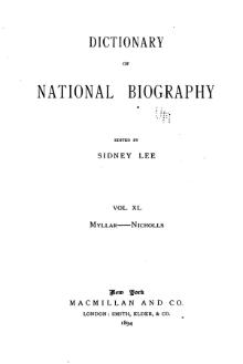 Dictionary of National Biography volume 40.djvu