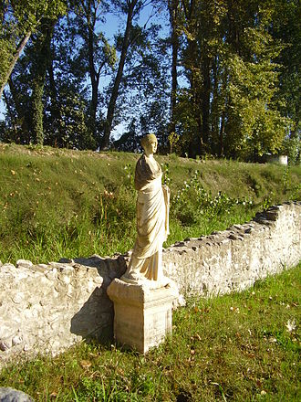 Dion, Pieria - View of a statue, Sanctuary of Isis.