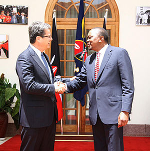 State House (Kenya) -  Director-General of WTO Roberto Azevêdo with President Uhuru Kenyatta, at State House (2014)