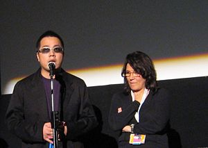 Pang Ho-cheung - Pang Ho-Cheung (left) at the premiere of his film, Exodus, at the 2007 Toronto International Film Festival