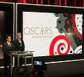 Directors J.J. Abrams and Alfonso Cuarón at the 87th Oscars Nominations Announcement.jpg