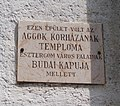 Doczy House plaque at 62 Kossuth Lajos Street, Esztergom, Hungary.jpg
