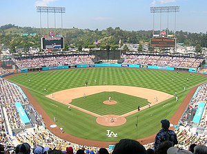 Sports in Los Angeles - Dodger Stadium (in Chavez Ravine) is the home of the Los Angeles Dodgers.