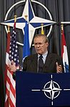 Donald H. Rumsfeld, North Atlantic Council, Brussels, Belgium, June 9, 2005.jpg