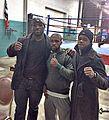 "Dorsett ""the bullet"" Barnwell and Mr Gary Russell Jr- at the gym in Washington DC- 2013-11-24 05-23.jpg"