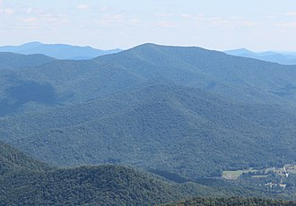 Double Spring Knob - Double Spring Knob viewed from Brasstown Bald