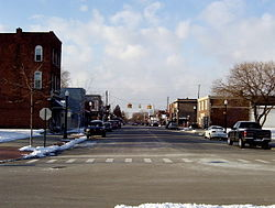 Downtown New Baltimore in January 2004