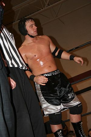 Drake Younger - Younger at IWA Mid-South's 500th show in 2008.