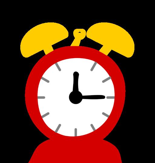 Draw alarm-clock