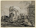 Drawing, After the Hunt- Two Hounds beside a Boar's Head, 1740 (CH 18353865).jpg