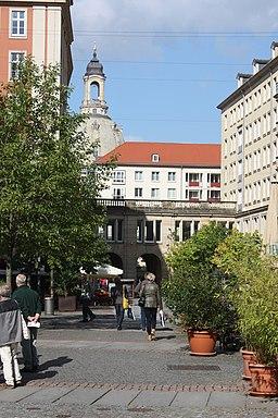 Gasse in Dresden