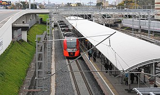 Dubrovka (Moscow Central Circle) - Image: Dubrovka platform