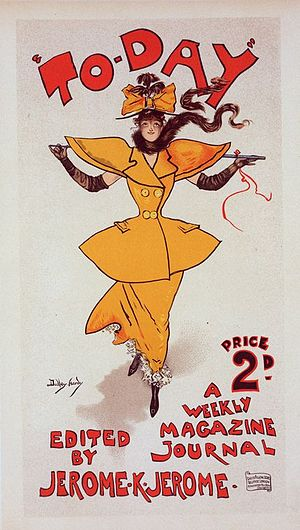 """Dudley Hardy - Today poster - Yellow Girl from the """"Les maîtres de l'affiches"""" series"""