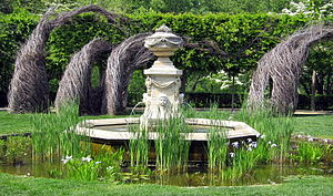 Beatrix Farrand - Fountain at Dumbarton Oaks in Washington, D.C., site of her best known garden design