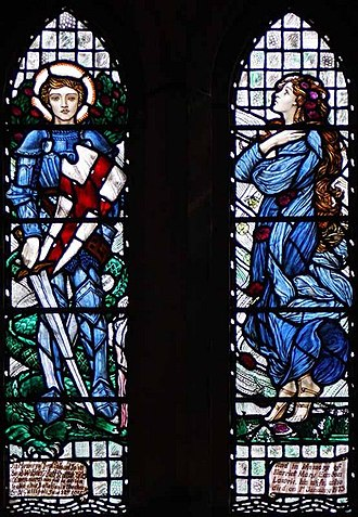 Louis Davis - Louis Davis, Stained Glass Window in Dunblane Cathedral.