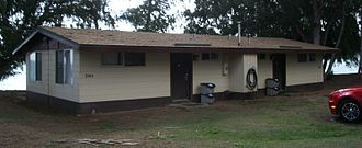 Bellows Air Force Station - Front view of duplex cabin at Bellows AFS, Hawaii.