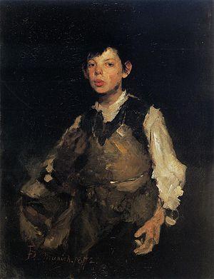 Whistling - The Whistling Boy, Frank Duveneck (1872)