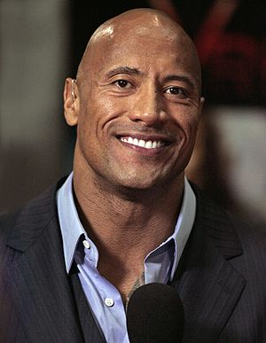 Moana (2016 film) - Dwayne Johnson (pictured here in 2013) played the co-starring role of Maui in Moana