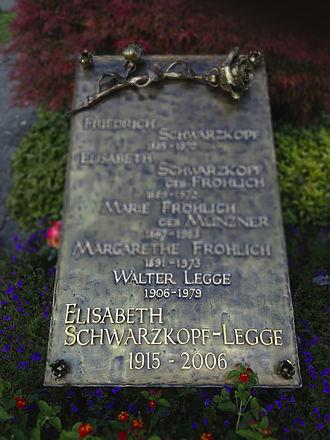 Elisabeth Schwarzkopf - Grave in Zumikon