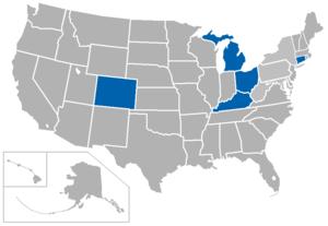 ECAC Lacrosse League - Image: ECACDI Lax USA states
