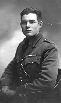 A young Hemingway in his World War I uniform