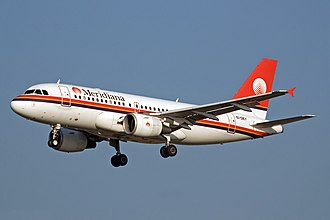 Meridiana - Airbus A319-100 previously operated by the airline