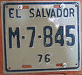 EL SALVADOR 1976 motorcycle plate - Flickr - woody1778a.jpg