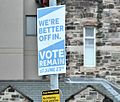 EU referendum remain poster, Belfast, June 2016 - geograph.org.uk - 4990237.jpg