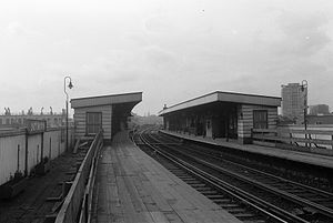 East Brixton railway station - Station in 1963.