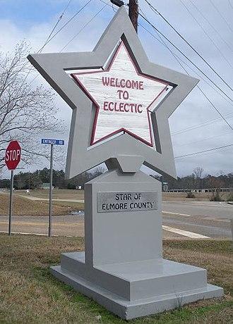 Eclectic, Alabama - Image: Eclectic Alabama Welcome Sign