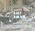 Ecole française 19ème siècle - Wash - Vue de Clisson - ~23.5x21cm.JPG