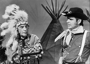 The ABC Comedy Hour - Ed Sullivan (left) and Rich Little (right) in a show skit.