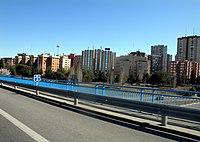 Edficios de Pinar de Chamartín (Costillares) o de la calle Caleruega, desde el nudo de la M-11 con la M-30.jpg