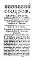 Edit du Roi touchant la discipline des esclaves nègres des Isles de l'Amérique Française, 1685.png