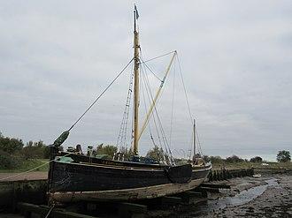Edith May - Image: Edith May sailing Barge at Lower Halstow 02