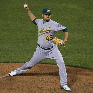 Edward Mujica - Mujica with the Oakland Athletics