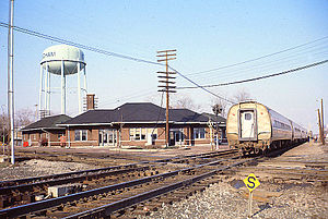 National Limited (Amtrak train) - The National Limited at Effingham, Illinois in 1979.