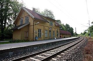 Eidsberg Station railway station in Eidsberg, Norway