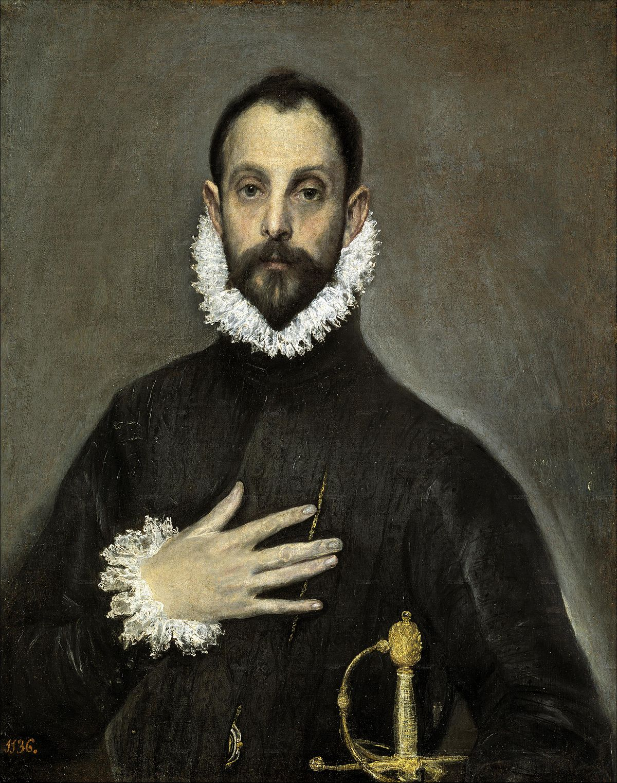 the nobleman with his hand on his chest wikipedia