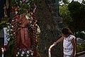 El santo patrono San Juan Evangelista antes de la procesión.jpg