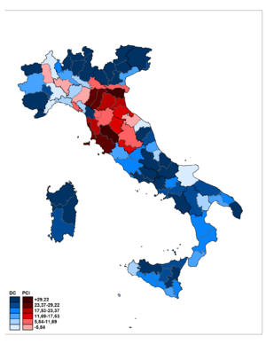 Italian general election, 1948 - Differences.