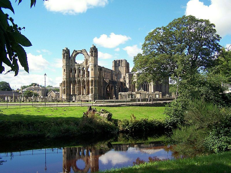 View of Elgin Cathedral with River Lossie in foreground. Taken by Bill Reid