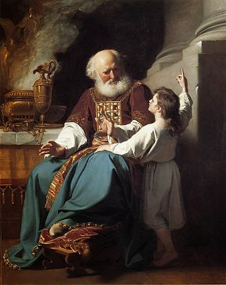 Eli (biblical figure) - Depiction of Eli and Samuel by John Singleton Copley, 1780.