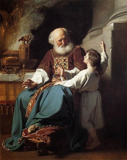 사무엘이 엘리의 집에 하나님의 심판이 내릴 것을 이야기하다 (존 싱글턴 코플리, 1780년)
